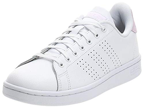 adidas Advantage Sh, Scarpe da Ginnastica Donna, Bianco Cloud White Cloud White Light Granite, 38 EU