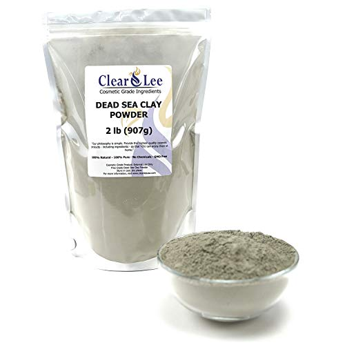ClearLee Dead Sea Clay Cosmetic Grade Powder - 100% Pure Natural Powder - Great For Skin Detox, Rejuvenation, and More - Heal Damaged Skin - DIY Clay Face Mask (2 LB)