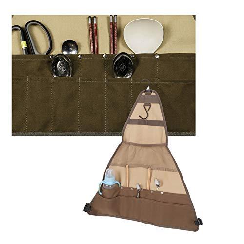 Organizador de cubiertos, Ānzhuāng Fāngbiàn 4/5000 翻译 结果 Bolsa de vajilla de material de lona fácil de instalar para escalar montañas para acampar