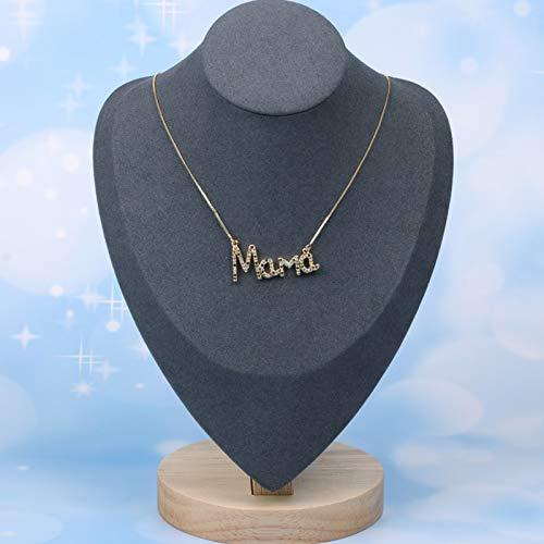 XPT Collar De Mujer con Letra Mamá, Collar De Mamá con Diamantes De Imitación para Fiesta, Día De La Madre, Regalo De Cumpleaños Dorado * Grande ##