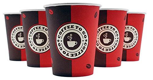 EXOPACK Coffee to go Becher 0,2l 200ml | 1000 Stück | Made in Germany | Spitzenqualität | Biologisch abbaubar