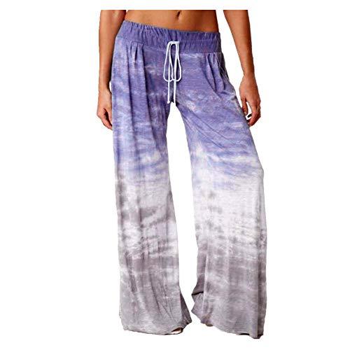 N\P Pantalones deportivos sueltos de yoga de pierna ancha para mujer