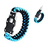 WEREWOLVES Paracord Knife Bracelet Survival Cord Bracelets, Emergency Tactical EDC Paracord Bracelet,Survival Gear Kit for Hiking Traveling Camping, Best Gift for Men & Women