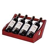 Soporte para botellero para Vino Gabinete Soporte para Almacenamiento para Vino Soporte Creativo para Botellas de Vino para el hogar Estante para Vino de Madera Decoración para gabinete para