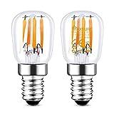 Maxsure E14 LED Kühlschranklampe, E14 LED Warmweiß, 2.5W Ersatz für 25W Halogenlampen, 260 Lumen, 2700K, Wasserdicht, glühbirne e14 für salzlampe, Nähmaschinen, Dunstabzugshauben - 2er Pack