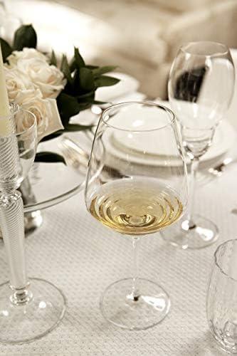 cl 60 h 220mm d 100mm Zafferano Esperienze Hergestellt aus Kristallglas Set 6 St/ück Weinverkostungs-Set Amarone und Pinot Noir Weinglas