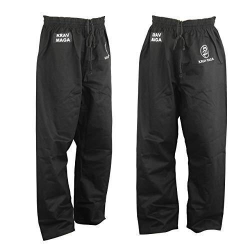 Krav Maga Combat Noir Uni Entraînement Pantalon (Pantalon) - 9oz - Neuf - Noir, 5/180cm