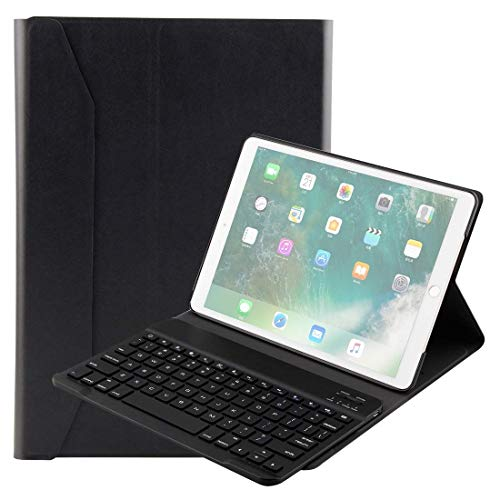 Keyboard Case for IPad Pro 10.5 Inch & IPad Air 10.5 Inch Lambskin Texture Detachable Plastic Bluetooth Keyboard Leather Cover with Stand Function Movoo (Color : Black)
