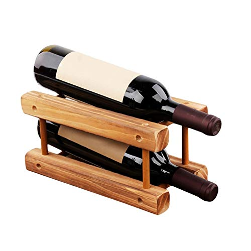 Botellero de Vino Estante de vino, gabinete de madera plegable Mueble de soporte de madera Estante de madera Organizador de almacenamiento para gabinete de exhibición retro para cocina, comedor, bar,