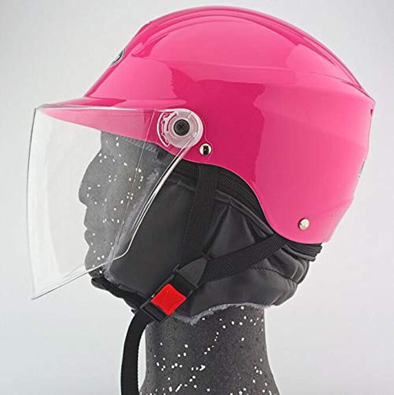 Motorbike Motorcycle Helmet Sun Visor Flip Up for Adults Unisex for Winter,Pink