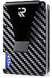 R Rizot Carbon Fiber Wallet - Metal Wallet - Minimalist Wallet - RFID Blocking Front Pocket Wallet - Carbon Fiber Money Clip - Card Holder - Thin Wallet