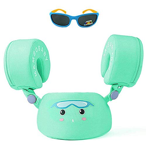 HECCEI Baby Swim Trainer Life Jacket for Kids Infant Swimming Water Float Ring Aid Vest with Arm Wings Non-Inflatable Toddler Boys and Girls