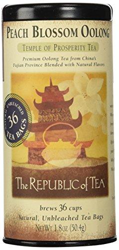 The Republic Of Tea Peach Blossom Oolong Tea, 36 Tea Bag Tin