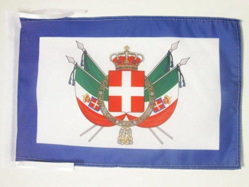 AZ FLAG Drapeau Armes Royaume d'Italie 1861-1870 45x30cm - PAVILLON Royal Italien 30 x 45 cm Haute qualité