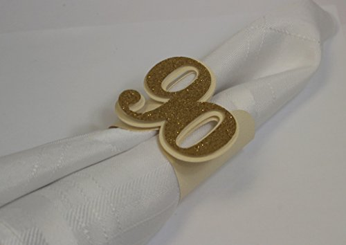 All About Details Gold 90 Napkin Holders, 12Pcs
