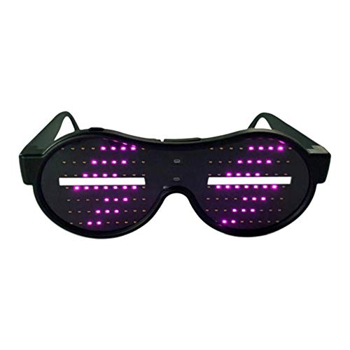 Wonderday Led-brillampen, neon rave bril, coole bril, voor feestjes, Halloween, nachtclub, KTV economical