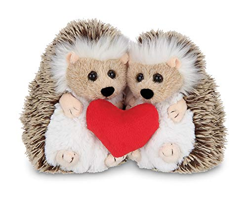 Bearington Lovie and Dovey Plush Stuffed Animal Hedgehogs Holding Heart 55 inches
