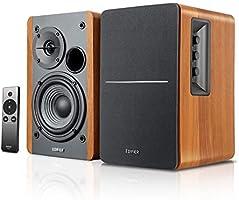 Edifier【Upgraded】 R1280Ts Powered Bookshelf Speakers - 2.0 Stereo Active Near Field Monitors - Studio Monitor Speaker -...