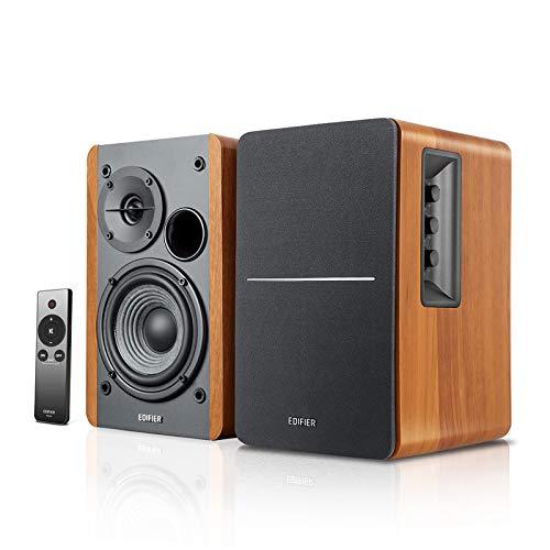 Edifier R1280Ts Verstärke Lautsprecher - 2.0 Stereo Aktive Nahfeldlautsprecher - Studio Monitor Lautsprecher - 42 Watts RMS mit Subwoofer Ausgang - Holzgehäuse