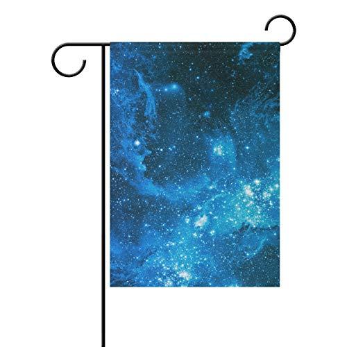 Jessgirl Drapeau de Jardin Vintage pour extérieur Blue Light Star 28 x 40 Pouces Double Face Cour Ferme décor Moderne de Patio