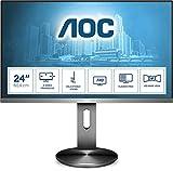 AOC Monitor I2490PXQU- 24' Full HD, 60 Hz, IPS, FlickerFree, 1920x1080, 250 cd/m, D-SUB, HDMI 1x1.4, Displayport 1x1.2