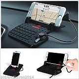FidgetGear Autos Support de chargeur USB antidérapant pour tableau de bord pour GPS/téléphones...