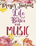 Prayer Journal Life is Better with a Banjo Vintage Tree Music Illustration Pretty: Christian Women Gifts, Inspirational Planner 2021,, Guided Journal, Christian Accessories