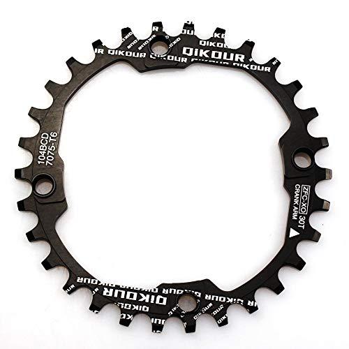CYSKY Schmale Breite Kettenblatt 104BCD 30T Fahrrad Einzelkettenblatt für 9 10 11 Geschwindigkeit, Perfekt für die meisten Fahrrad Rennrad Mountainbike BMX MTB (Schwarz)