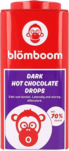 Blömboom Dark Hot Chocolate Drops, Dunkle Schokoladendrops zum Trinken, BIO, Dose (200g)