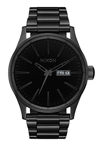 Mens Black Stainless Watch