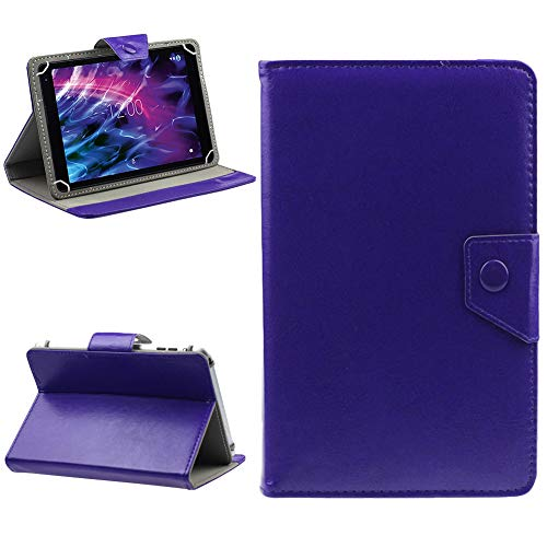 NAUC Medion Lifetab P10610 P10603 P10606 P10602 X10605 X10607 X10311 P9702 X10302 P10400 Schutzhülle Universal Tablet Tasche Hülle Standfunktion Cover Hülle, Farben:Blau