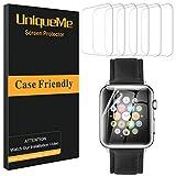 UniqueMe [6 pièces] Protection écran pour Apple Watch 40mm Series 4/5 Film,...