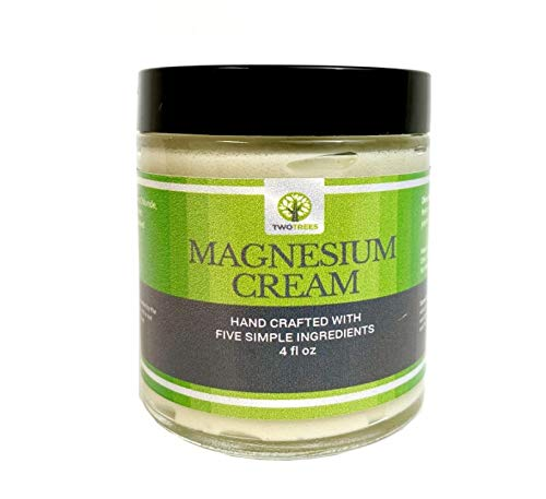 Magnesium Cream with Lavender by Two Trees Health - All Natural, Hand Crafted for Anxiety, Aches and Pains, Muscle Soreness, Restless Leg Syndrome, Better Sleep