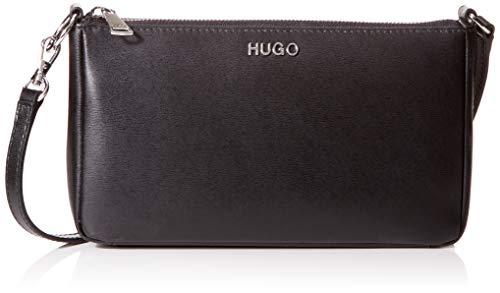 HUGO Damen Downtown Minibag Umhängetasche, Schwarz (Black), 4.5x13x22.5 cm