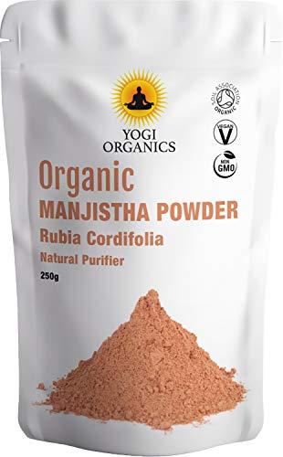 Yogi Organics Bio Manjistha Pulver 250g - Bio Rubia Cordifolia - Ayurvedischer Kräuterblutreiniger