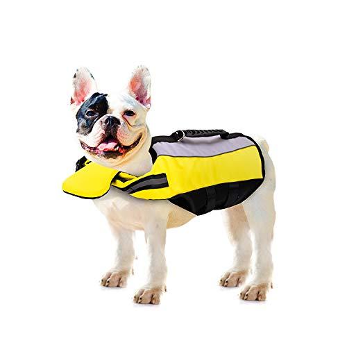 baratos y buenos PETCUTE Chaleco salvavidas para perros Chaleco salvavidas flotante para perros … calidad