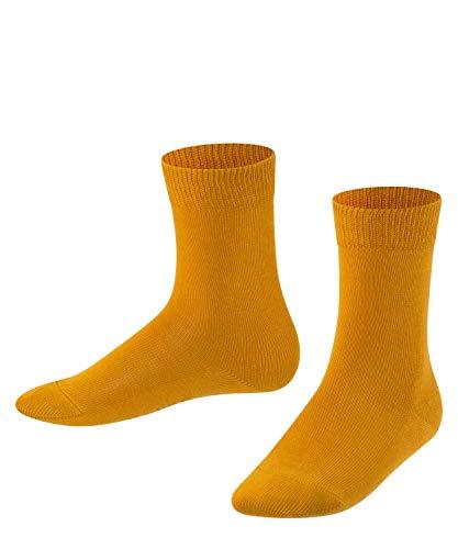 FALKE Unisex Kinder Family K SO Socken, Blickdicht, Gelb (Amber 1851), 27-30 (3-6 Jahre)