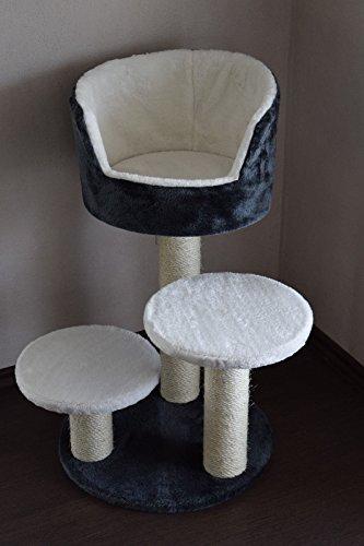 Lemio - Kratzbaum Rising II Sisal Katzenkratzbaum - Katzenbaum - Möbel für Katzen (Sisalstamm)