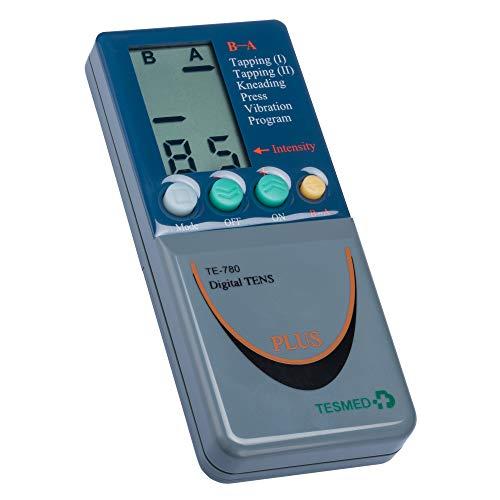 Tesmed 780 Electro estimulador Digital, 2/4 Canales, EMS/TENS/Masaje, 8 electrodes, 124 Aplicaciones pre-programadas