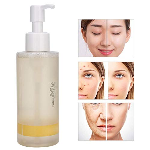 150ml Amino Acid Liquid Facial Cleanser, Foaming Pore Cleaning Makeup Removal Cleanser Fresh Foaming Facial Cleanser Makeup Remover for Daily Face Wash Removes Dirt, Oil, Makeup
