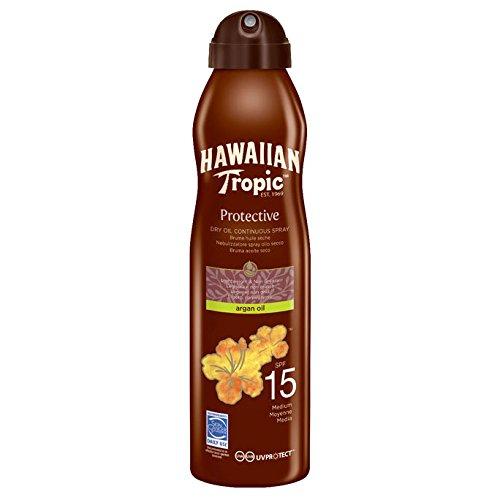 Hawaiian Tropic Protective Dry Oil Continuous Spray Argan Oil SPF 15 177ml