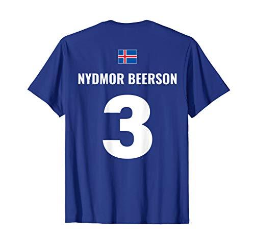 Beer Football Drinker Team Football Soccer Iceland T-Shirt