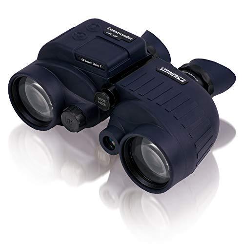 Steiner Commander 7x50 LRF binoculares marinos - medición de distancia con láser de hasta 1.700 m, 10 m herméticos a la presión del agua - la clase superior para las ambiciones más altas en el agua