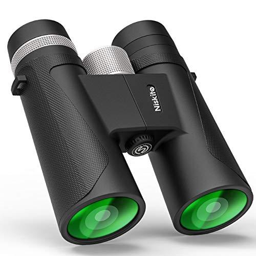 Compact Binoculars for Adults - High Power 12x42 Roof Prism Binocular Telescope,Waterproof Fogproof...