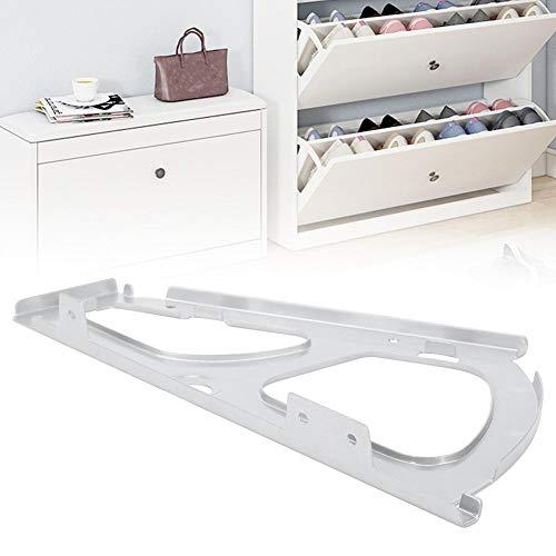 Duokon Möbel, schoenen, ladekast, scharnieren, 2 stuks, roestvrij staal, schoenscharnier turing rek, reserveaccessoires voor dubbellaagse schoenenkast