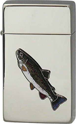 SAROME(サロメ) ガス ライター SRM 釣り 魚 シリーズ ニジマス シルバー 700193