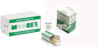 "E.C. MOORE DISKS Sand Plastic, 7/8"" coarse 320 grit Box of 600"