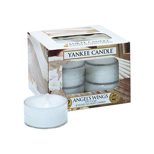 Yankee Candle Teelicht, Angel Wings, Duftkerze, Stövchenlicht, 12er Pack, Teelichte, 1311130E