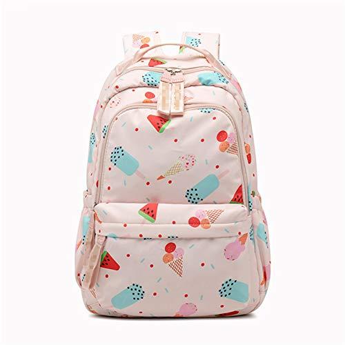 JenLn Mochila Escolar Bolsa de Libro Linda para niñas Diarpack Grande y Ligero para 15.6 Pulgadas Port Port Pack Mochila (Color : Pink, Size : 30x15x45cm)