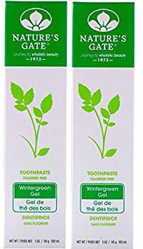 Nature s Gate Natural Toothpaste Fluoride Free Wintergreen 5 oz  Pack of 2  set